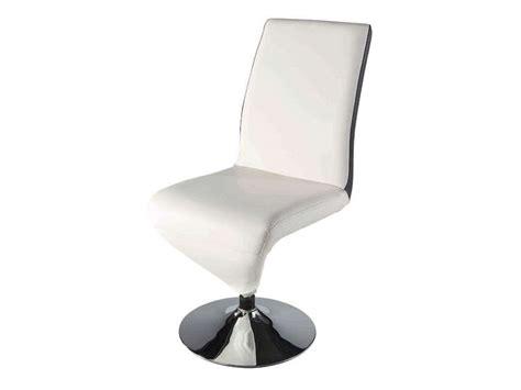 chaise electra coloris noir et blanc conforama