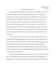Essay About Martin Luther King by Martin Luther King Jr Essay