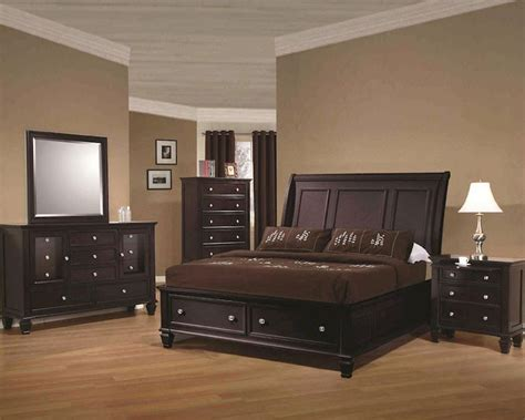 sandy beach bedroom set coaster storage bedroom set sandy beach in cappuccino