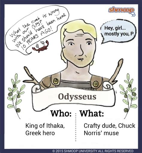 theme exles in the odyssey odysseus in the odyssey chart