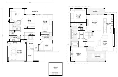 Two Storey House Plans Perth Custom Built Designer Home The Pacifica Webb Brown Neaves Builders Perth Wa Australia
