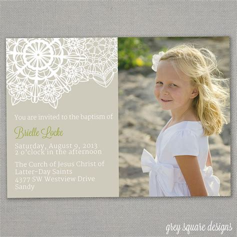 Lds Baptism Card Template by Lds Baptism Invitation Lds Baptisms And Invitations