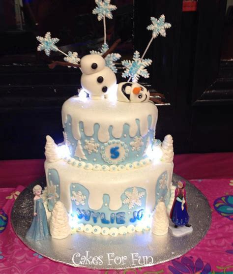 Decorating Frozen Cake by Frozen Cake With Lights Cake Decorating Community Cakes We Bake
