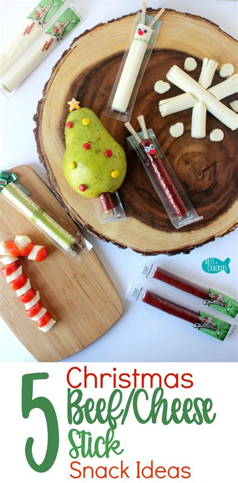 christmas time snacks 5 beef stick string cheese snack ideas