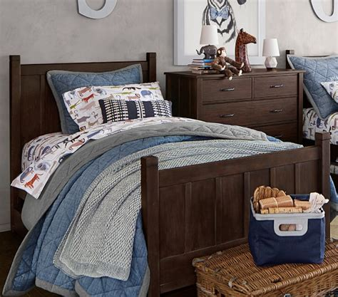 Quilted Comforters Sale by Theo Chambray Quilted Bedding Pottery Barn