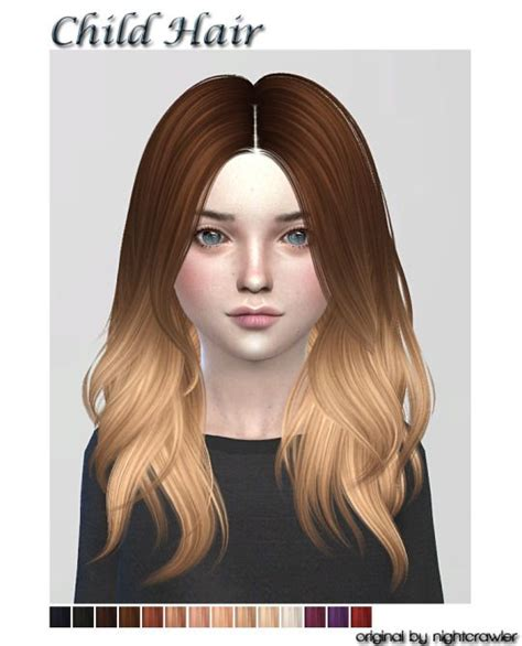 sims 4 child hair lana cc finds kids hair fc ts4 hair kids cf