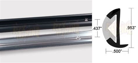 boat black rub rail cleaner aluminum rub rail 953 quot wide black anodizedwith lip 12