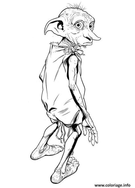 coloriage dobby elf harry potter dessin