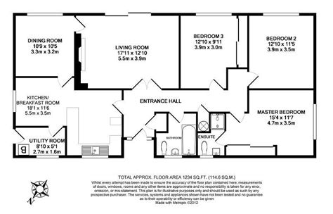 bungalow floor plans uk 3 bedroom detached bungalow for sale in dalewood