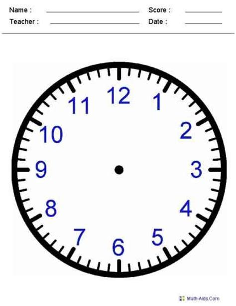 printable clock for learning to tell time time worksheets kindergarten telling time pinterest