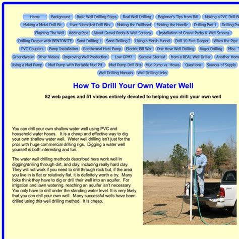 how to drill your own water well pearltrees