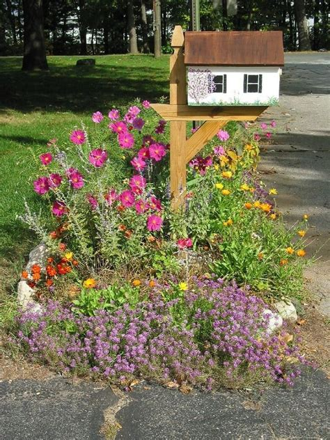 Mailbox Garden Ideas Mail Box Garden Ideas Photograph Mailbox Garden Useful