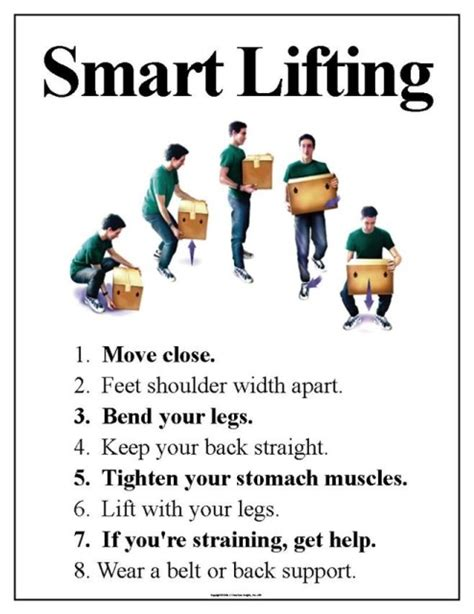 printable safe lifting poster eaposters back safety posters