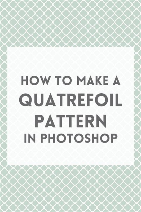 add pattern to shape in photoshop create a quatrefoil pattern in photoshop studios shape