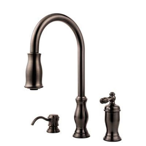 bronze pull kitchen faucet price pfister gt526 tmy hanover collection pull