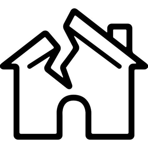 broken house broken house free buildings icons