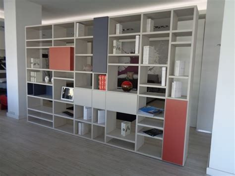 librerie design outlet soggiorno doimo cityline libreria bifacciale laminato