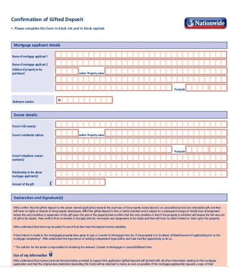 Gift Letter Deposit sle gift letters 41 exles in pdf word