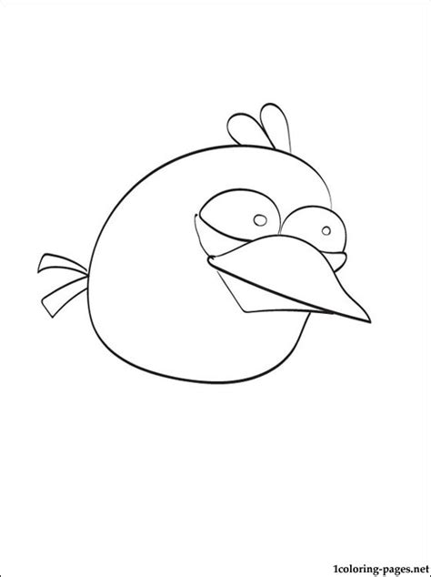 free coloring pages of blue angry bird