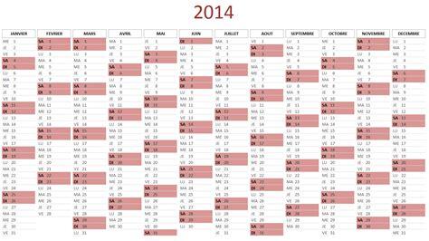 Calendrier 2014 Excel Calendrier 2014 Gratuit Au Format Excel