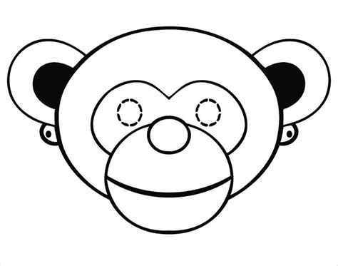 printable monkey mask template monkey mask template www pixshark com images galleries
