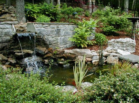 backyard water features waterfalls pool design ideas
