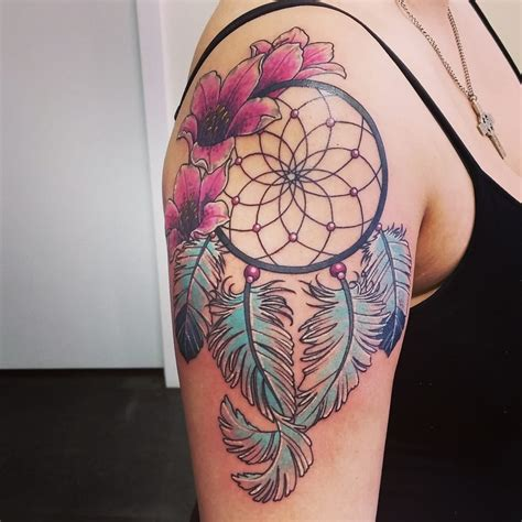 mechanical concept tattoo dreamcatcher by brian yelp