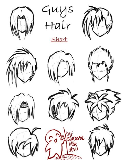 anime hairstyles for guys with short hair hair styles for guys short by sarcasticlittledevil on