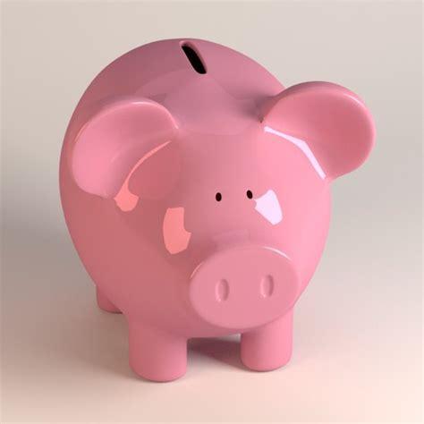 pig piggy bank large 3ds piggy bank