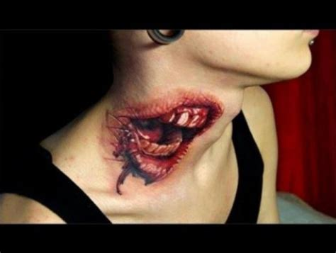 best neck tattoo ever 25 top of class 3d tattoos you have ever seen