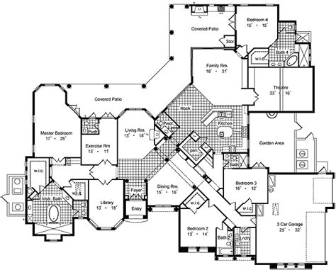 luxury house floor plan architectural designs