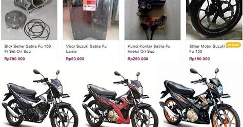 Sparepart Satria Fu Daftar Harga Sparepart Suzuki Satria Fu 150