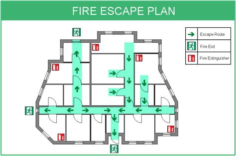 fire exit floor plan site map