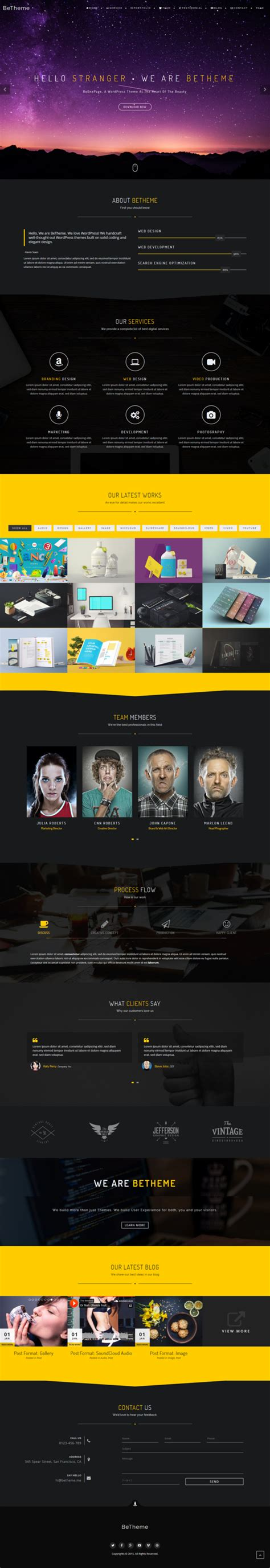 wordpress themes live preview beonepage creative wordpress theme wordpress business