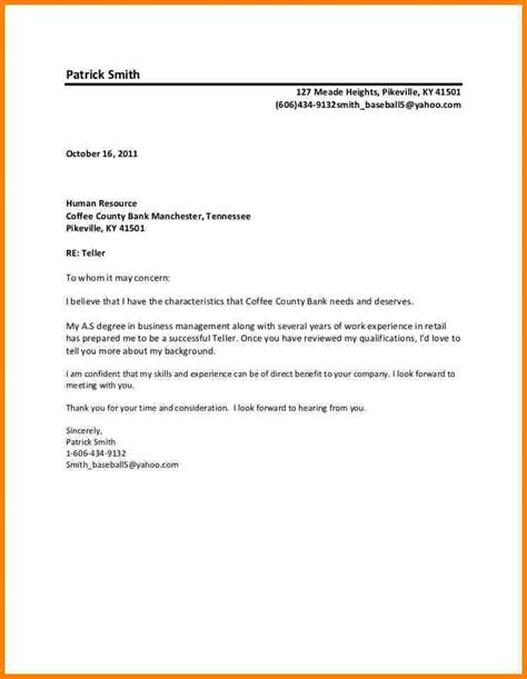 sle to whom it may concern cover letter letter format 187 formal letter format sle to whom it may