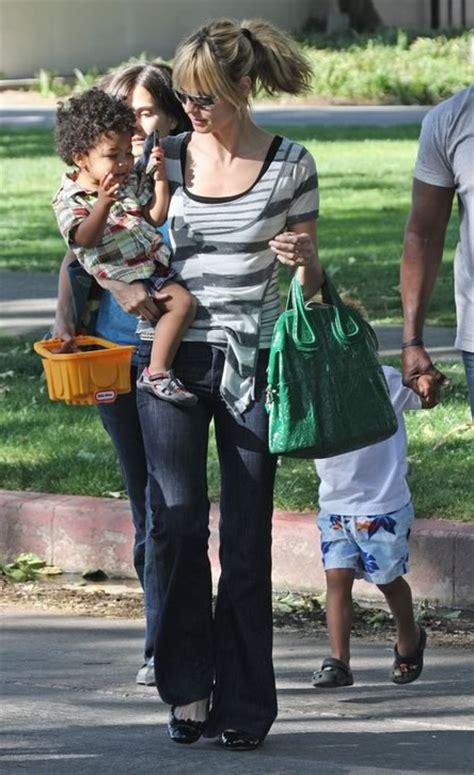 Heidi Klum Carries Givenchys Nightingale Handbag Johan by Heidi Klum With Givenchy Nightingale Purseblog