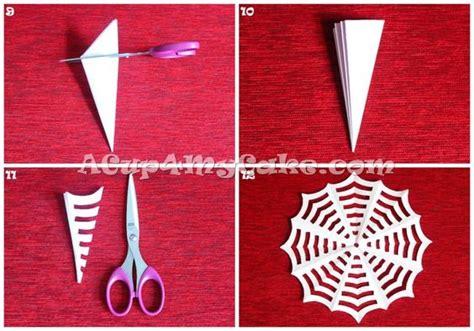 How To Make A Paper Web - como fazer teia de aranha de papel serve como decora 231 227 o