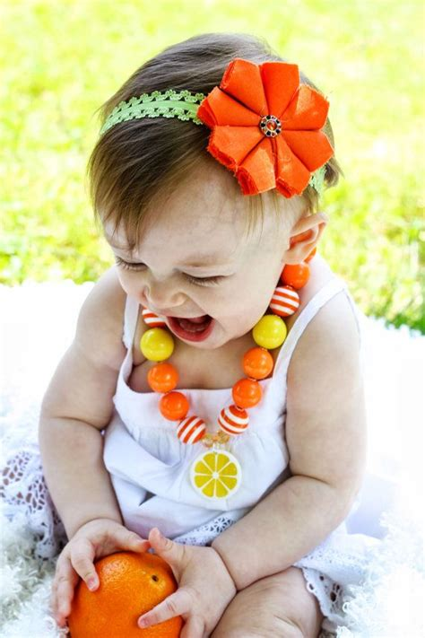 chunky for toddler necklaces orange slice chunky bubblegum bead necklace baby