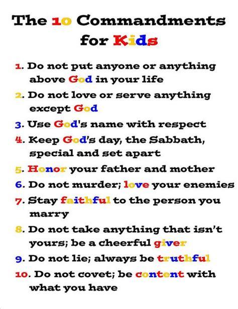 printable version ten commandments catholic the ten commandments for kids exodus 20 teaching