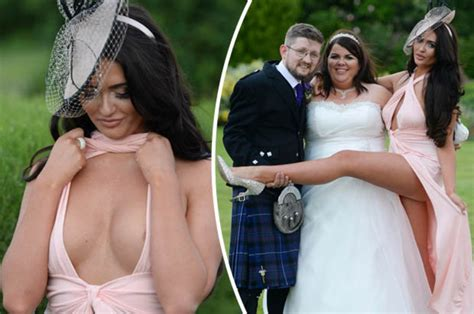 Wedding Photo Nip Slips ex on the s dawson buxom cleavage risks