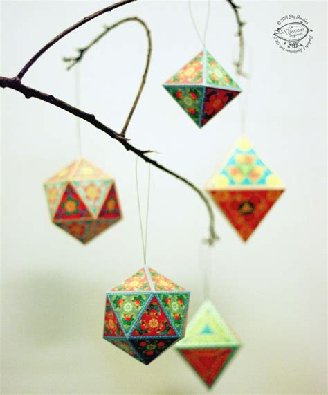 printable paper christmas ornaments christmas ornaments papercraft diy paper tree home decor