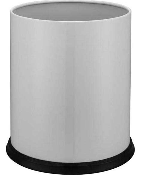 waste bin for bedroom white waste paper bin hotel bedroom bin 7 litre case