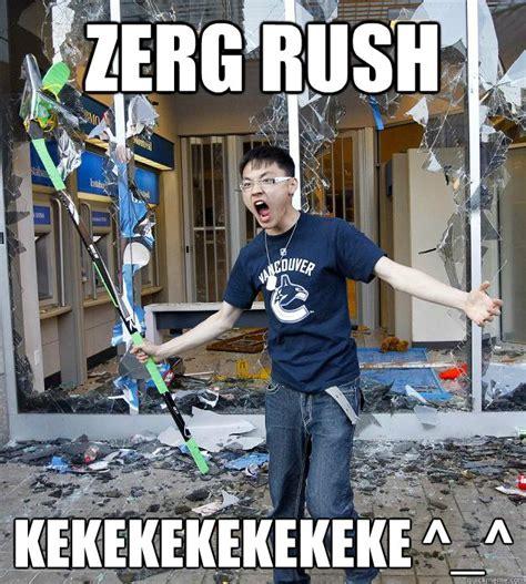 Zerg Rush Meme - zerg rush kekekekekekeke misc quickmeme