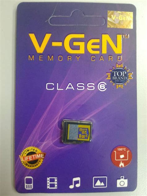 Memory Card V 8gb Class 6 jual memory memori micro sd vgen v v 8gb