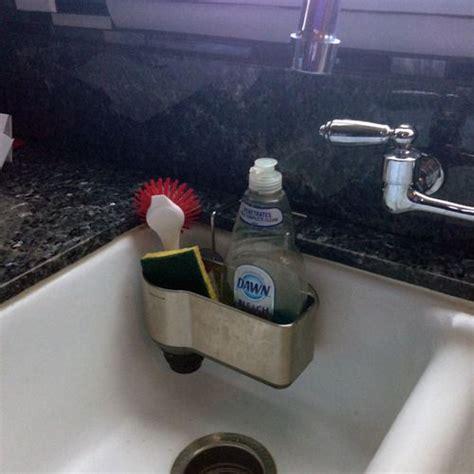 kitchen sink caddy amazon amazon com simplehuman sink caddy stainless steel