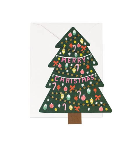 christmas tree greeting card by rifle paper co made in usa