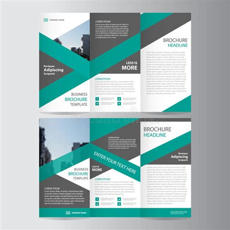 leaflet layout download green trifold annual report leaflet brochure flyer