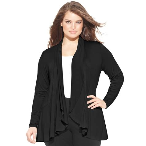 plus size draped cardigan inc international concepts plus size draped cardigan in