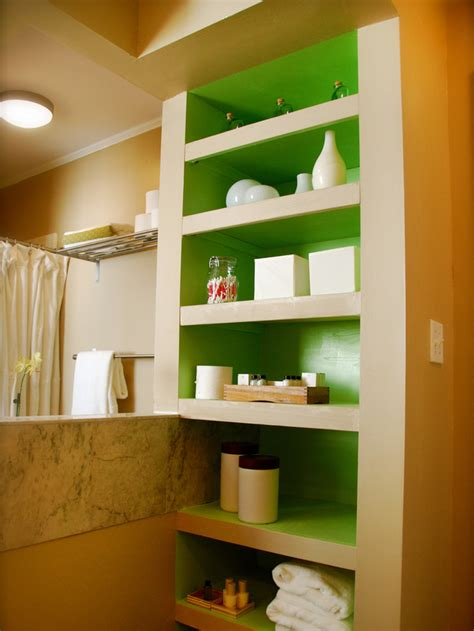 Built In Bathroom Shelves Bathroom Organization Diy Bathroom Ideas Vanities Cabinets Mirrors More Diy
