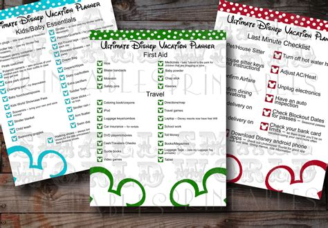 printable disney holiday planner 9 best images of printable disney world planner disney